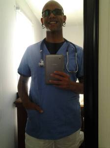 My son, the soon to be CNA!